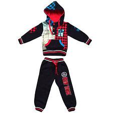 Infants Toddlers Kids Sweatsuit Boys Printed Polyester SweatPant Hoodie Top Set