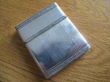 RARE SCORREVOLE / Hinged Design HM solido argento cheroot / SIGARETTA / CARD CASE - 1925