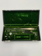 Antique Boehm Surgical/Dental Instrument Set In Box - Lighted Medical Tools~RARE