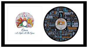 QUEEN - BOHEMIAN RHAPSODY - VINYL RECORD LYRIC ART + ALBUM COVER - Memorabilia