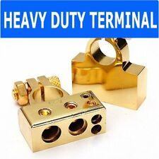 Gold #1 1/0 2 4 8 Gauge AWG Car Silver Battery Terminal Positive Negative Set