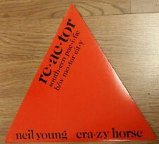 Neil Young Crazy Horse Reactor Red Triangle Shaped Vinyl new 1981