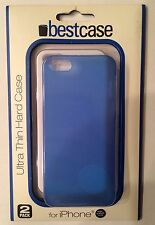 Bestcase 2 Pack White Blue iPhone 5 5S Ultra Thin Hard Case Brand New In Package