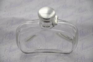 JAMES DIXON STERLING SILVER CUT GLASS & SILVER HIP/SPIRIT FLASK SHEFFIELD 1901