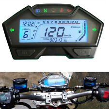 Universal RPM LCD Digital Motorcycle Odometer Speedometer Tachometer Gauge Speed