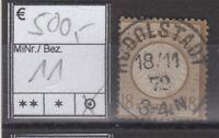 D R -  Brustschilde Mi. Nr. 11 zentr. Ekr. Vollstempel Rudolstadt / BPP Flemming