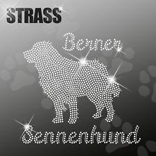 Bovaro bernese CANE APPLICAZIONE foto strass FERRO STIRO hotfix 22cm largo