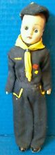 Boy Cub Scout Doll Sleepy Blue Uniform Eyes Hat Ascot Blue Vtg Mid Century 50s