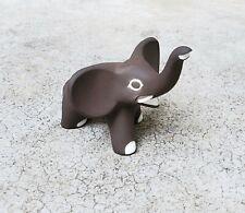 1950's Jaap Ravelli Dutch Art Pottery Black & White Elephant Signed w Label
