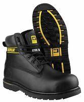 CAT Caterpillar Holton Mens Safety Leather Steel Toe Cap Work Boots UK6-15
