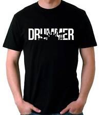 Camiseta Hombre Drummer bateria t-shirt manga corta musica musico