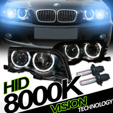 8K Hid Xenon Blk Halo Projector Headlights Headlamps 99-01 Bmw E46 3-Series 4Dr