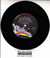 "CHOIRBOYS  Boys Will Be Boys  NEW 7"" 45 rpm vinyl record + juke box title strip"