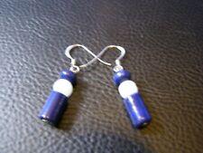 Lovely Lapis And Moonstone Gemstone Earrings In 925 Silver Reiki Healing