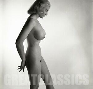 JUNE BAUER LOVELY NUDE MODEL 1950s 2 1/4 CAMERA NEGATIVE PETER BASCH