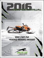 2016 Arctic Cat ZR XF M 4000 6000 8000 2-Stroke Snowmobiles Service Manual on CD