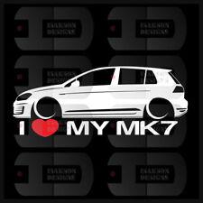 I Heart My MK7 Sticker GTI Germany Love VW Volkswagen 4 Door Euro Golf Hatch Low