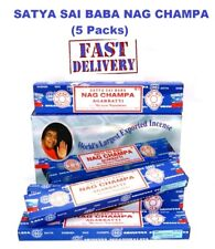 5Packs Original Satya SaiBaba Nag Champa Incense Sticks Joss Insence Genuine New