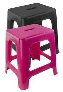 Hocker Sitzhocker Plastikhocker schwarz pink Tritthocker  Aufstiegshilfe Pferd