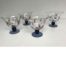 Villeroy & Boch Footed Dessert Cottage Glass Cups (4) Four