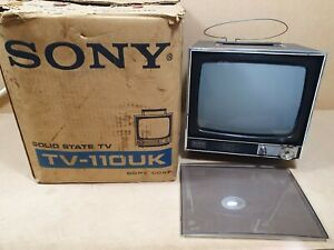 Vintage Sony TV-110UK Solid State TV Boxed