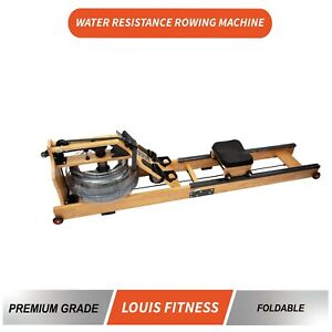 Water Rowing Machine Foldable Water Resistance Rower Workout Fitness Home Gym