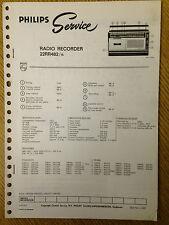 Philips 22RR482 Radio Tape Recorder Service Manual Vintage Radio Audio 70's 80's