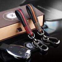 Car Handmade Leather Car Keychain Home Key Ring Hanging Key Chain