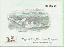 Spanish Stamps - 1991 Exfilna 91 National Stamp Exhib  Sheet  In MNH Condition
