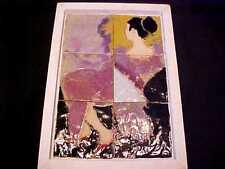 JACK & AJ FERRELL Studio ART POTTERY Framed TILE MURAL Pacific Rim ASIAN LADY