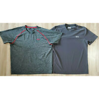 Under Armour Mens T-Shirt Size XL Heat Gear Lot of 2 Gray
