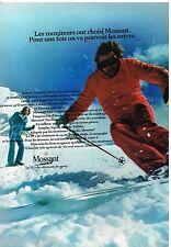 Publicité Advertising 1972 Les Vetements de ski Mossant