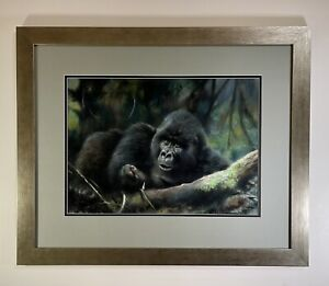 Original Painting of a 'Gorillas Of The Congo' by Renowned  Artist: JOEL KIRK