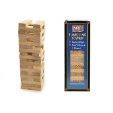 NEW WOOD TUMBLING STACKING TOWER WOODEN BLOCK BUILDING GAME 54 BLOCKS 23CM