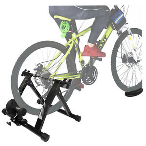 """Indoor Bike Trainer Stand Portable Exercise Bicycle Magnetic Stand 26""""-28"""" Wheel"""