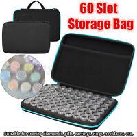 60Slots w/ bottles Embroidery Diamond Painting Storage Box Case Nail Art  L