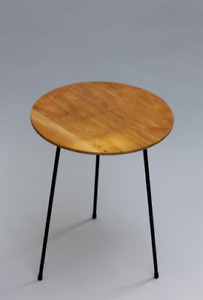 """Cherry wood side table, handmade wood table, end table, [Cherry] D16"""" H 20"""""""