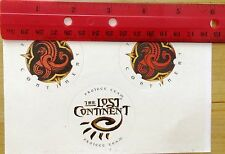 RARE=Islands of adventure-cast member only sticker-1999-lost continent