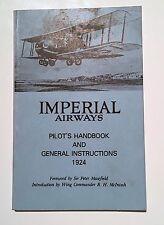 IMPERIAL AIRWAYS 1924 PILOTS HANDBOOK AND GENERAL INSTRUCTIONS BA COPY 1974