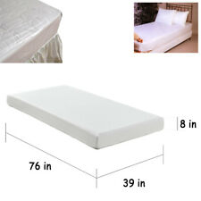 Twin Size Bed Mattress Cover Plastic White Waterproof Fitted Protector Mite Dust