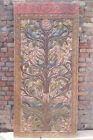 Vintage Indian Door Panel Sculpture Floral Carving WALL Relief TREE OF Dreams