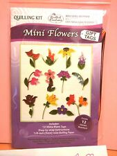 Quilled Creations Paper Quilling Kit ~  MINI FLOWERS - GIFT TAGS  ~12 ct.  ~ 438