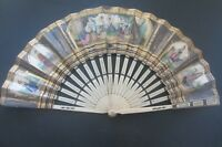 Antiker Fächer ANCIEN EVENTAIL plaqué or c1780 Antique Rococo Peinture old fan
