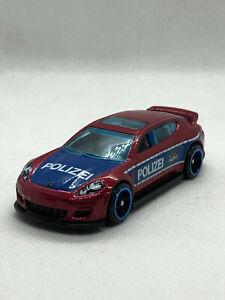 Hot Wheels Porsche Panamera Red Police Polizei 2019 - Unpackaged