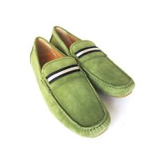 S-1468935 New Bally Wabler Moss/Green Suede Driver Shoe Sz US 11.5D/marked 10.5E