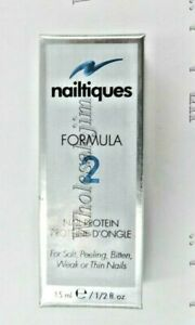 Nailtiques Formula 2 Nail Protein for Soft Peeling Weak or Thin Nails 15 ml New