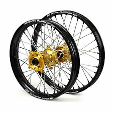"Yamaha YZ85LW 2002 2003 2004 2005 2006 2007 Wheels Set Gold Black 16"" 19"" Rims"