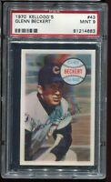 1970 Kellogg's Baseball #43 GLENN BECKERT Chicago Cubs PSA 9 MINT