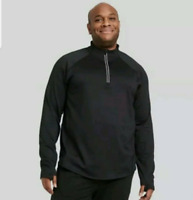 MEN'S PREMIUM LAYERING QUARTER ZIP PULLOVER BLACK S - ALL IN MOTION NEW W/ TAGS