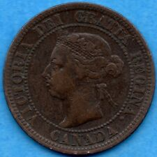 Canada 1892 1 Cent One Large Cent Coin - Very Fine
